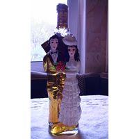 Бутылка фигурная с изображением свадьбы, молодых. распродажа