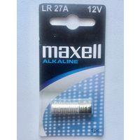 Батарейка алкалиновая Maxell. LR27A A27 BL-5 Lr828, Lr27. 12V