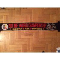 Шарф Чемпионат Мира По Хоккею 2001. С флагами стран участниц.