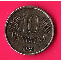 49-25 Бразилия, 10 сентаво 1994 г.