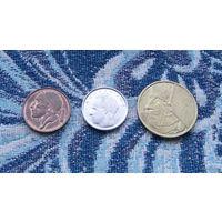Бельгия 50 центов; 1, 5 франков