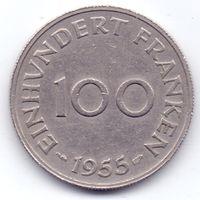 Саар, 100 франков 1955 года.