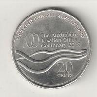 Австралия 20 цент 2010 100 лет налоговому управлению
