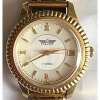 Часы наручные Полет с браслетом. В рабочем состоянии.
