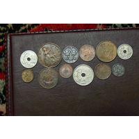 Набор из 12 монет старая Европа