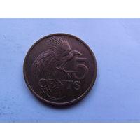 5 центов 1990 год Тринидад и Тобаго  распродажа