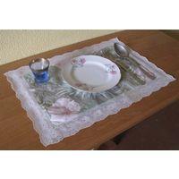 Салфетки столовые сервировочные, моющиеся ( синтетика ) 2 шт. .