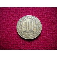 Центральная Африка 10 франков 1985 г.