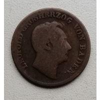 Баден 1 крейцер 1851