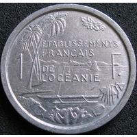 Фр. Океания 1 франк 1949