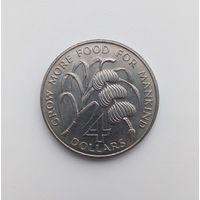 ДОМИНИКА  4 доллара 1970
