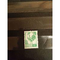 1944-45 Французская колония Алжир Французский Комитет Национального Освобождения Гальский петух фауна чистая клей MNH (1-7)