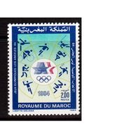 Марокко-1984,(Мих.1052)  **  Спорт, ОИ-1984