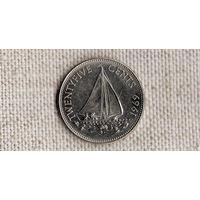 Багамские острова /багамы/ 25 центов 1969 /корабль/FV/
