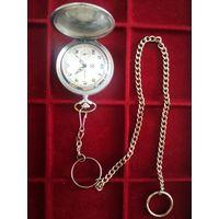 """Часы карманные молния """"глухарь"""" с цепочной . обслуженные.."""