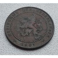 Нидерланды 1 цент, 1907 8-9-19