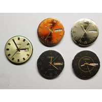 Часы Слава,механизмы.Редкие циферблаты в состоянии.Старт с рубля.