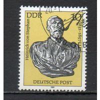 150-летие со дня рождения Генриха фон Штефана ГДР 1981 год серия из 1 марки