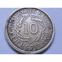 Германия 10 рейхспфеннигов 1935 J.Аукцион с 1.00 руб.