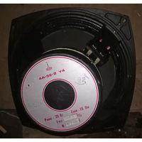 Широкополосные динамики Ломо, акустические системы 4А32-2 У4 черная рама СССР