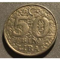 Турция 50000 лир 1998, бин