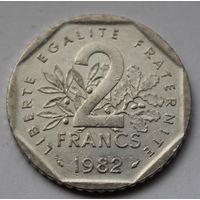 Франция, 2 франка 1982 г.