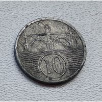 Богемия и Моравия 10 геллеров, 1941  4-1-36