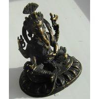"""Индийский Бог """" Ганеша"""".латунь.12 см."""