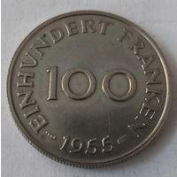 СААРЛАНД - 100 ФРАНКОВ 1955 г.