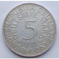 ФРГ 5 марок 1971 J, серебро