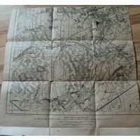 Оригинальная 250м немецкая карта по ПМВ Столовичи (Барановичский р-н)1915г