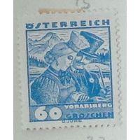 Жених и невеста из Kорберса, Форарльберг. Австрия. Дата выпуска:1934-08-15