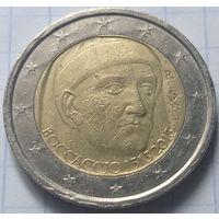 Италия 2 евро, 2013 700 лет со дня рождения Джованни Боккаччо          ( 6-6-5 )