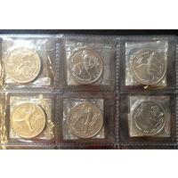 Полный набор Барселона из 6 монет, в запайке