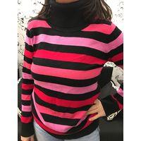 Пуловер свитер гольф в полосочку 44-46