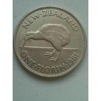 Новая Зеландия 1 флорин 1961