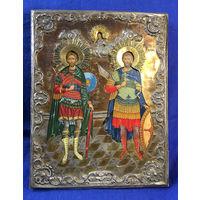 Икона Святой Мученик Георгий и Иоанн Воин