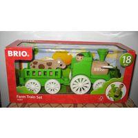 """BRIO 30267 Фермерский поезд, деревянный игровой набор  серия: Мой родной дом БРИО Набор BRIO """"Фермерский поезд"""" позволит ребёнку поиграть в почти настоящую ферму и познакомиться с профессией фермера Э"""