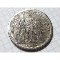 Франция 5 франков 1875 КОПИЯ