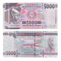 Банкнота Гвинея 5000 франков 2015 UNC ПРЕСС