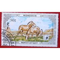 Монголия. Лошади. ( 1 марка ) 1986 года.