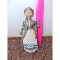 Кукла СССР, кукла - лен, дерево