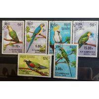 Кампучия попугаи-1989-6 марочек