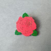 Брошь деревянная Роза
