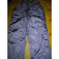 Фирменные мега теплые штаны  . полукомбинезон