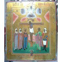 Икона Распятие Христово. 19 Век. Письмо по Золоту. Шедевр!