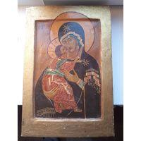 Икона  Владимирская Божья Матерь 19 век.