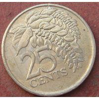 6255:  25 центов 2001 Тринидад и Тобаго