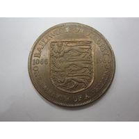 1-12 Шиллинга 1966 (Джерси) Елизавета II