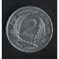 Карибы штаты 2 цента 2003 г. (*). Сохран!!!